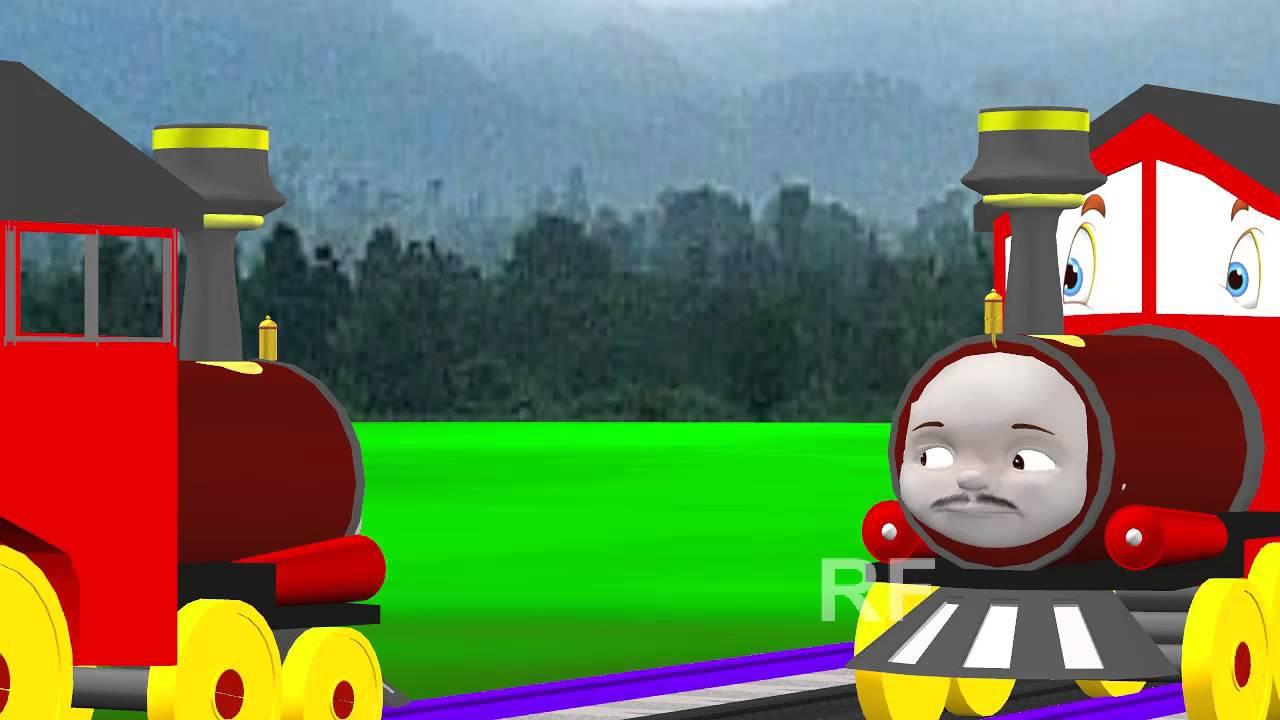johny johny yes papa nursery rhyme train cartoon 3d animation