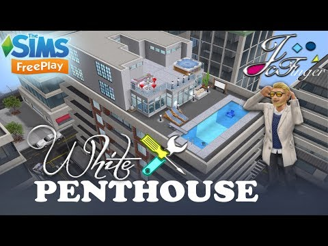 The Sims FreePlay 🛠 LIVE BUILD [ WHITE PENTHOUSE ] 🏢By Joy.
