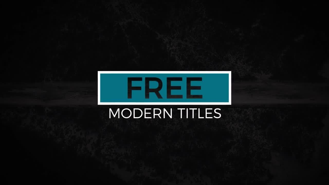 Free Modern Titles After Effects Templates YouTube - Adobe after effects title templates