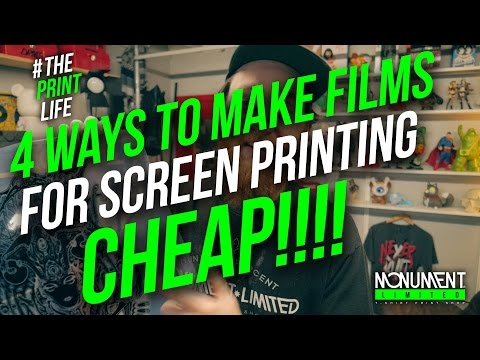 How to Silk Screen Print a t-shirt with a Paper Stencil, Rubilith film, or hand painted films.