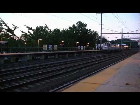 HD: Amtrak Diesels @ Princeton Junction, NJ  6-23-12