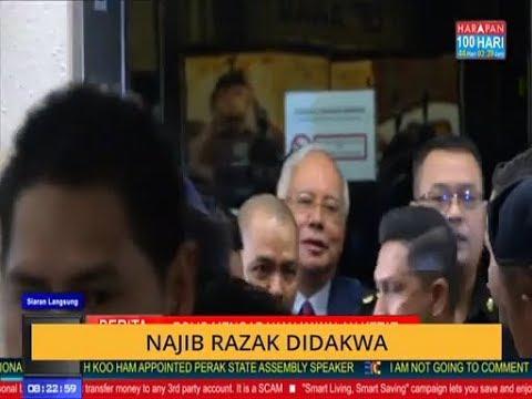 Najib Razak tiba di Mahkamah Kuala Lumpur