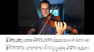 Jazz Violin Solo - Sunny Side of The Street