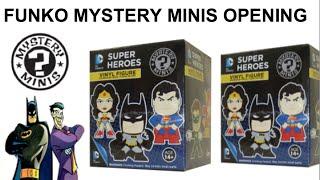 DC Comics FUNKO Mystery Minis Blind Box Opening