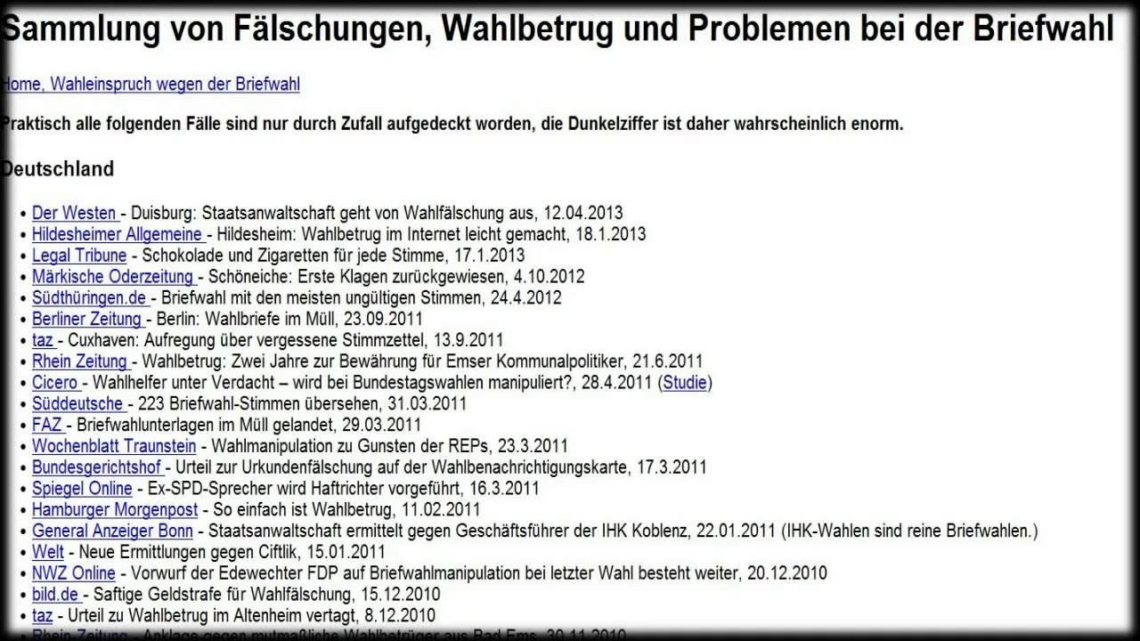 Wahlbetrug In Deutschland