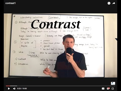 Linking words of contrast