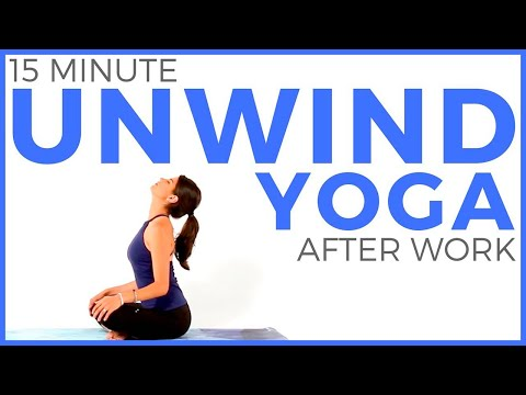 15 minute Relaxing Yoga Stretches to UNWIND After Work | Sar