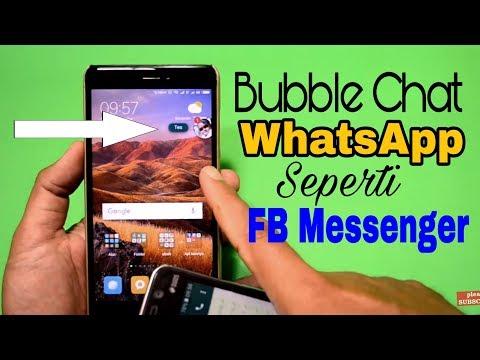 Cara Membuat Bubble Chat Whatsapp Seperti Messenger