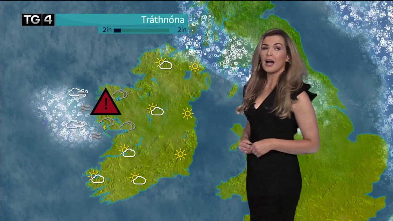 TG4 weather presenter was 'struck by lightning' live on air