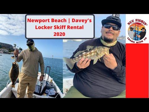 Newport 2020 | Davey's Locker Skiff Rental | Halibut & Bass Fishing! Live Bait Catches Them ALL!