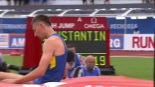 Чемпионат Европы по легкой атлетике-2016. Андрей Проценко, прыжки в высоту. 2-19 в квалификации