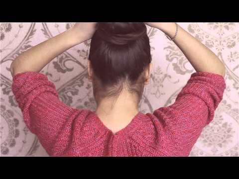 Как быстро сделать пучок из волос с помощью бублика |1 и 2|вариант