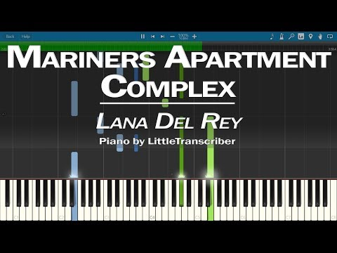 Lana Del Rey - Mariners Apartment Complex (Piano Cover) Synthesia Tutorial By LittleTranscriber