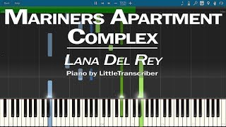 Baixar Lana Del Rey - Mariners Apartment Complex (Piano Cover) Synthesia Tutorial by LittleTranscriber