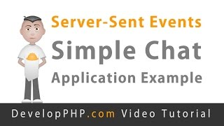 Server-Sent Events Simple Chat Application Example