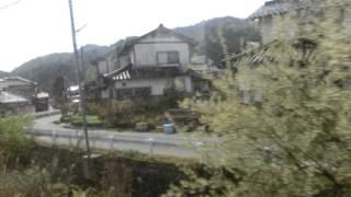 【車窓】 若桜鉄道若桜線若桜行 隼駅到着