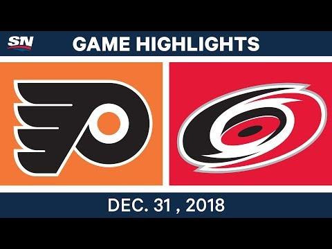 NHL Highlights | Flyers vs. Hurricanes - Dec 31, 2018