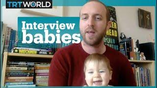 Baby interrupts TRT World interview