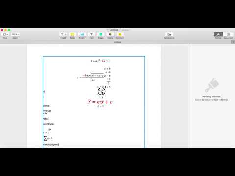 Insert Equation In Pages 2017