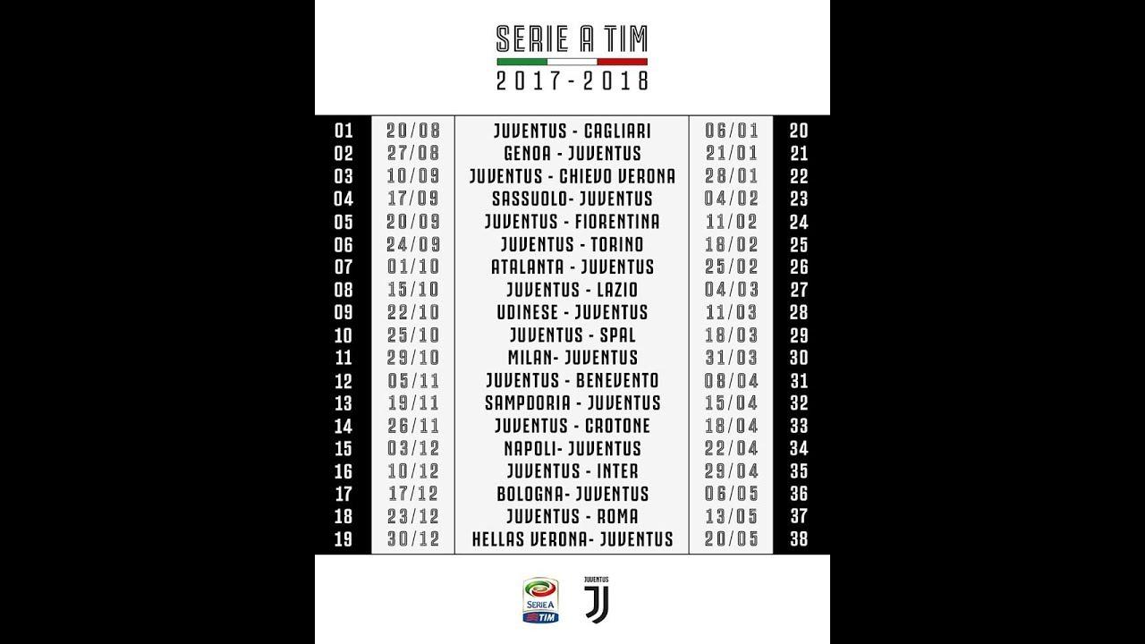 Juventus Calendario Serie A.Calendario Serie A 2017 2018 Inizio Buono Sulla Carta Il Finale E Da Brividi