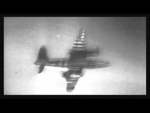 WWII D-Day Martin Marauder B-26 direct hit