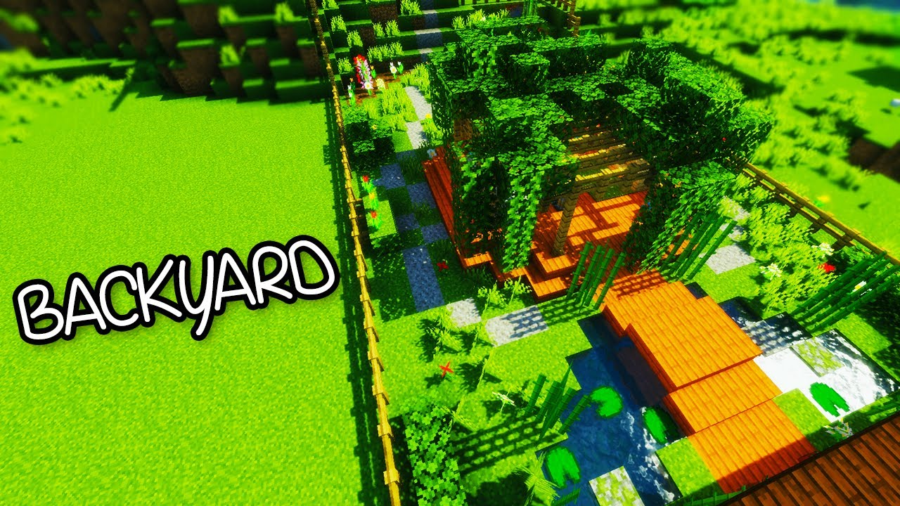 minecraft gardening 101 backyard garden tutorial 1 youtube