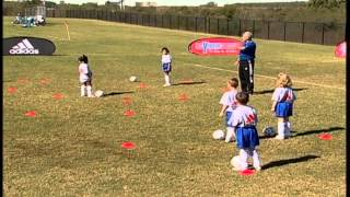 US Youth Soccer Novice Coach U6 U8 Random Cone Dribble 2