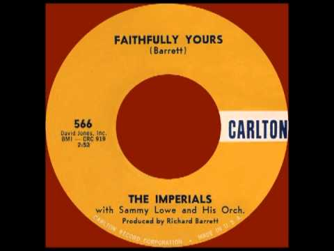 FAITHFULLY YOURS, The Imperials, Carlton #566   1961