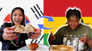 Ghanaian and Korean American Swap Traditional Dishes