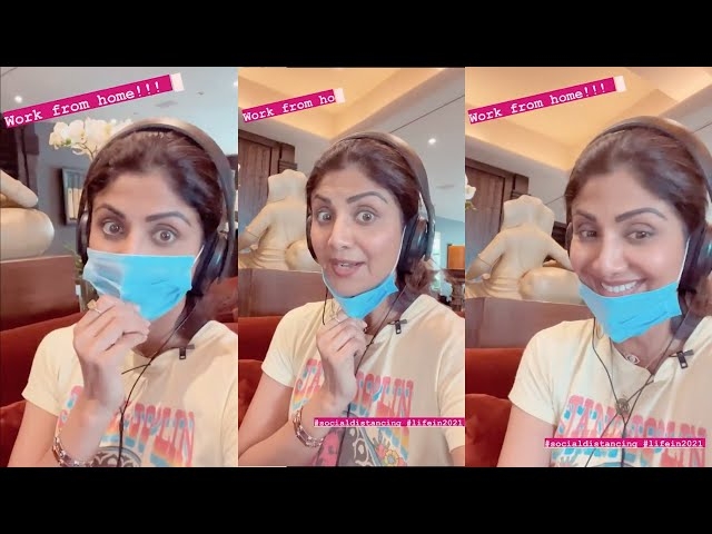 Shilpa Shetty Working From Doing Dubbing For Her Upcoming Projects