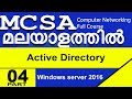 05: WINDOW SERVER 2016 TRAINING : IN MALAYALAM : WHAT IS ACTIVE DIRECTORY & HOW ITS WORKS? |
