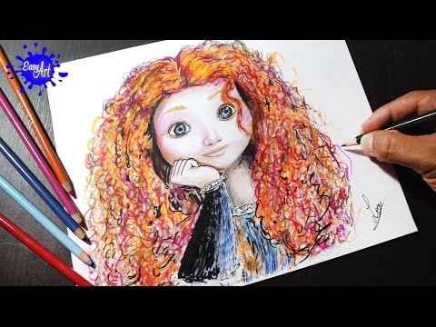 Como Dibujar A Merida Valiente L How To Draw Merida Brave L Como