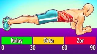 Koşmadan Ve Diyet Yapmadan Karnınızdaki Yağları Yakan 8 Egzersiz