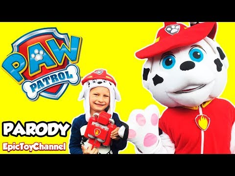 PAW PATROL Marshall in Real Life + Marshalls Pup Pack Toy Real Life Size Paw Patrol Epic Toy Channel