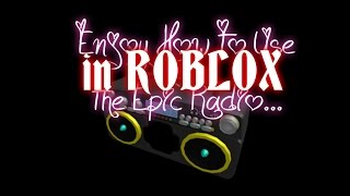 Enjoy how to use the epic radio! (roblox mad murderer)