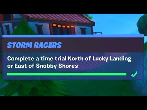 Complete a Time Trial North of Lucky Landing or East of Snobby Shores (1) - Prestige Storm Racers