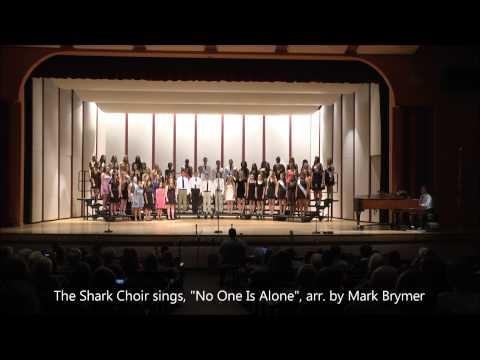 SRHS Shark Choir sings,
