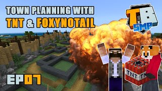 Town Planning with TNT & Foxynotail | Truly Bedrock Season 2 [07] | Minecraft Bedrock SMP