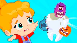 New episode! Groovy The Martian sing cavity germs | Learn to brush your teeth for a bright smile