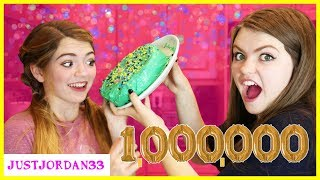 3 Color Cake Challenge I 1 Million Sub Celebration! / JustJordan33