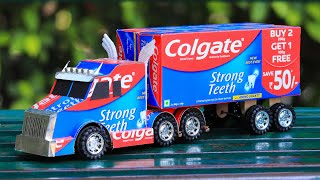 How to Make a Toy Truck From Colgate  | Awesome Ideas