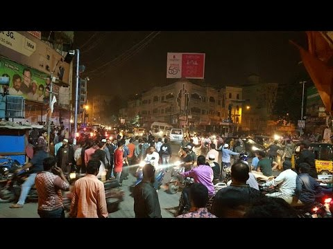 Mild Tension in old City Hyderabad People protest over `blasphemous' post