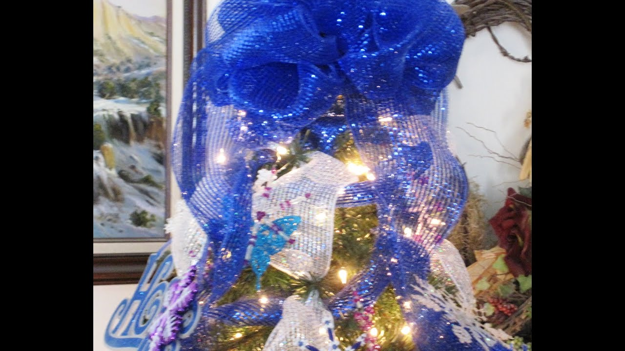 how to decorate your christmas tree with mesh ribbon featuring miriam joy - Mesh For Christmas Tree Decorating