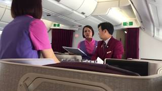 Thai Airways Business Class A350XWB Flight Experience: TG104 Bangkok to Chiang Mai