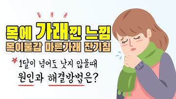 목에 가래낀 느낌 원인과 해결방법 (목이물감, 마른가래, 잔기침)