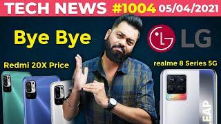 5G realme 8 시리즈 출시, Bye Bye LG, Redmi 20X 가격, Galaxy F12 및 F02s, Buds Air 2 Neo- # TTN1004