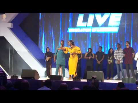 AY Live 2017 - Big Brother Naija contestants, Davido and others live on stage