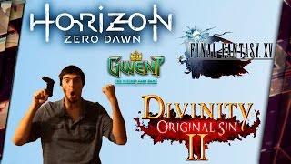 ПОИГРАЛ В HORIZON ZERO DAWN, ГВИНТ, FINAL FANTASY XV и Divinity Original Sin 2