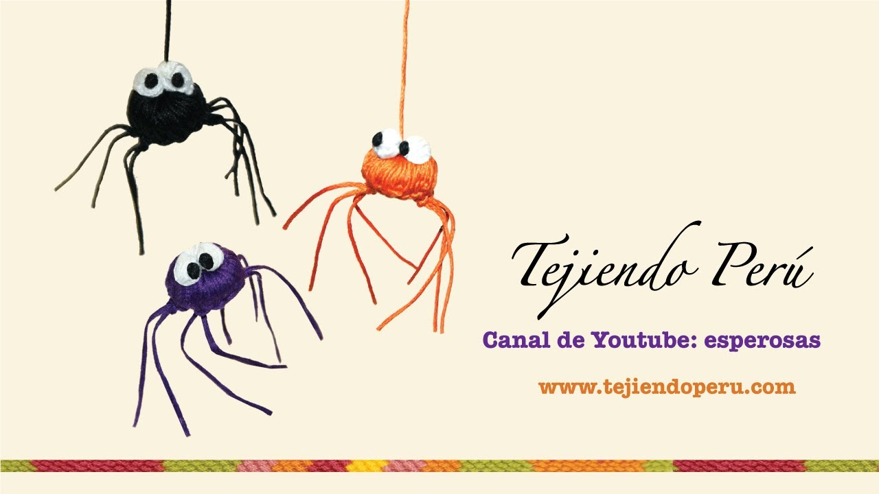 Arañas de Halloween tejidas a crochet - YouTube