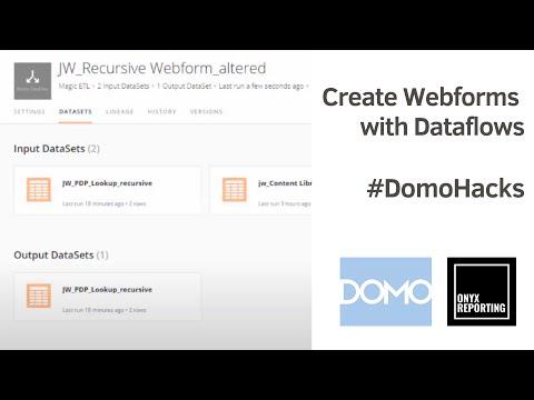 DOMO - MagicETL - update a Webform via recursive dataflow using JavaCLI